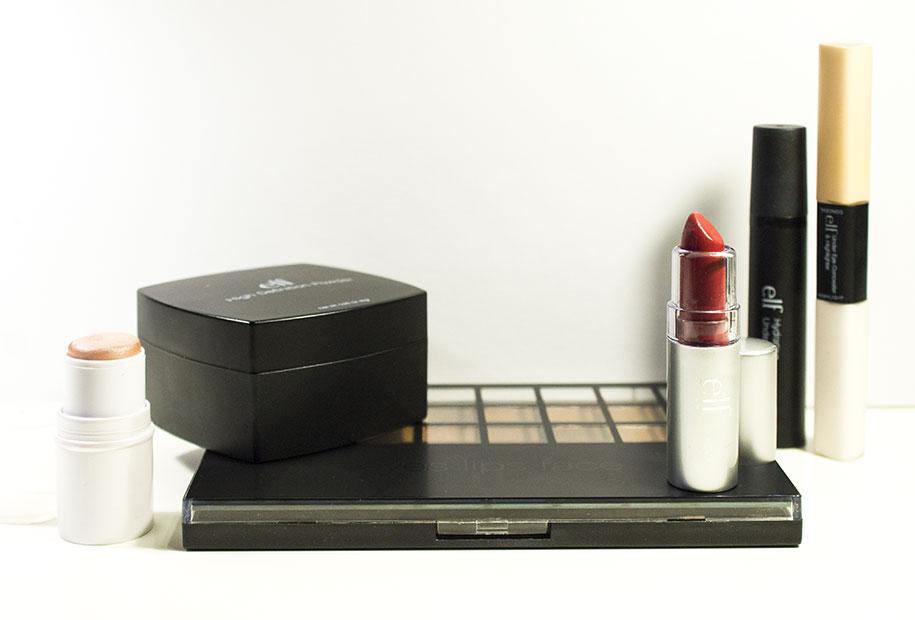 Photo de l'ensemble des produits ELF testés par Sandie.