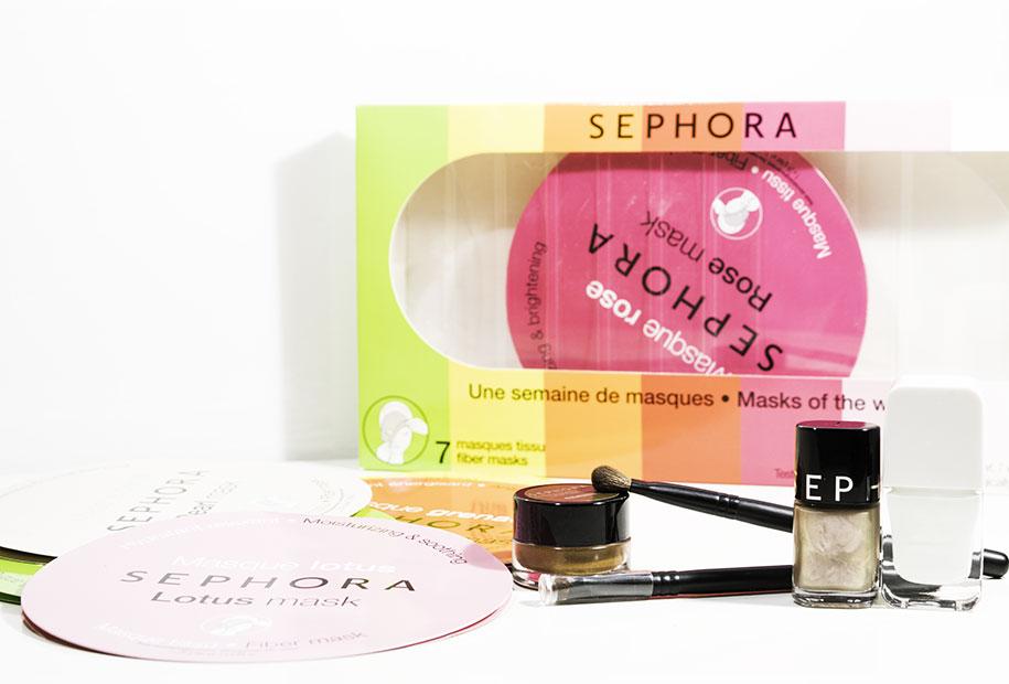 L'ensemble des produits chouchous de la marque Sephora que Sandie présente dans sa revue sephora