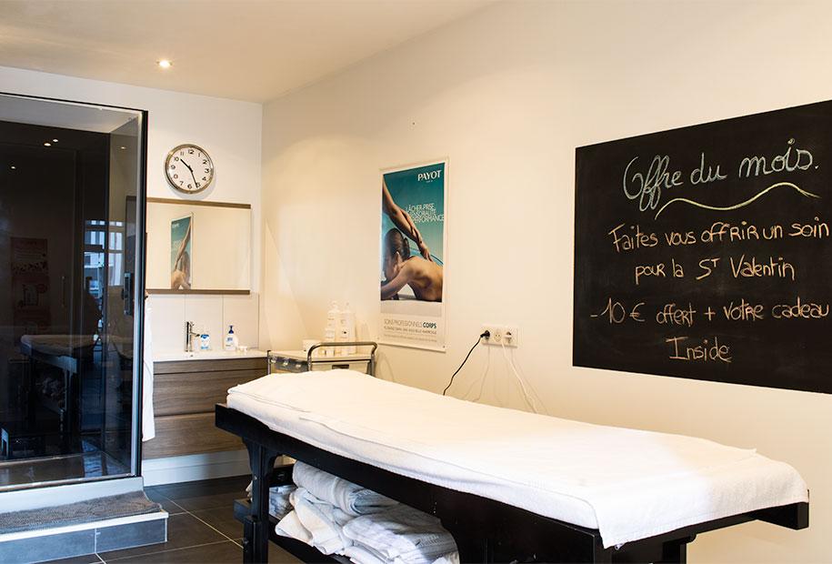 Photo de la zone Payot du salon Inside de Montlouis-sur-Loire. Pour de bon massage et un endroit calme, foncez