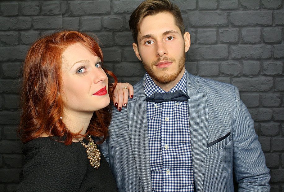 Tristan et Sandie en tenue classe pour la Saint Valentin