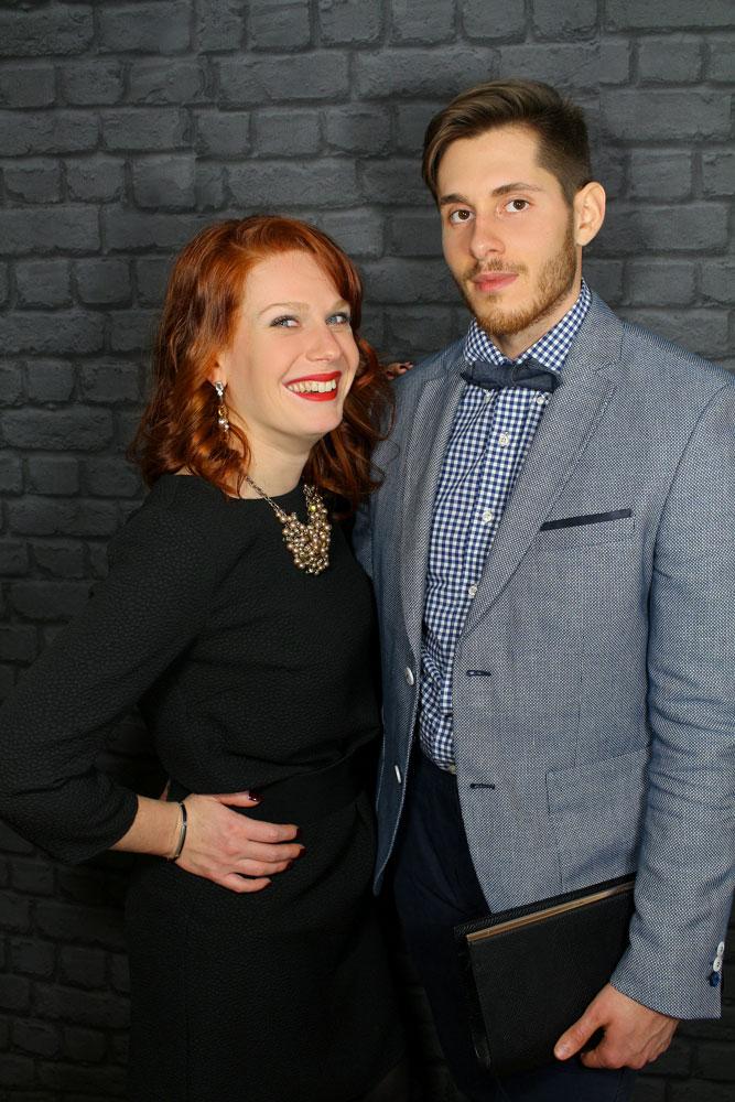 Tristan et Sandie en tenue de Saint Valentin