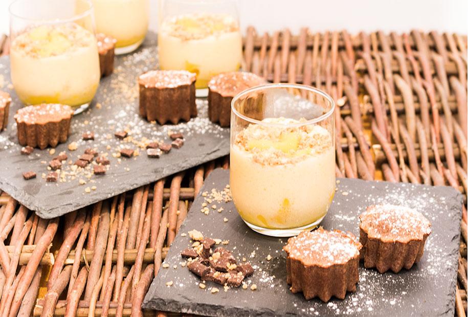 Présentation des verrines et muffins sur des ardoises