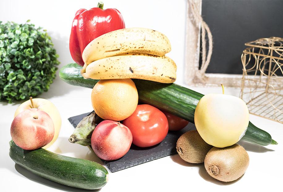 Photo des fruits et légumes présents dans mon alimentation