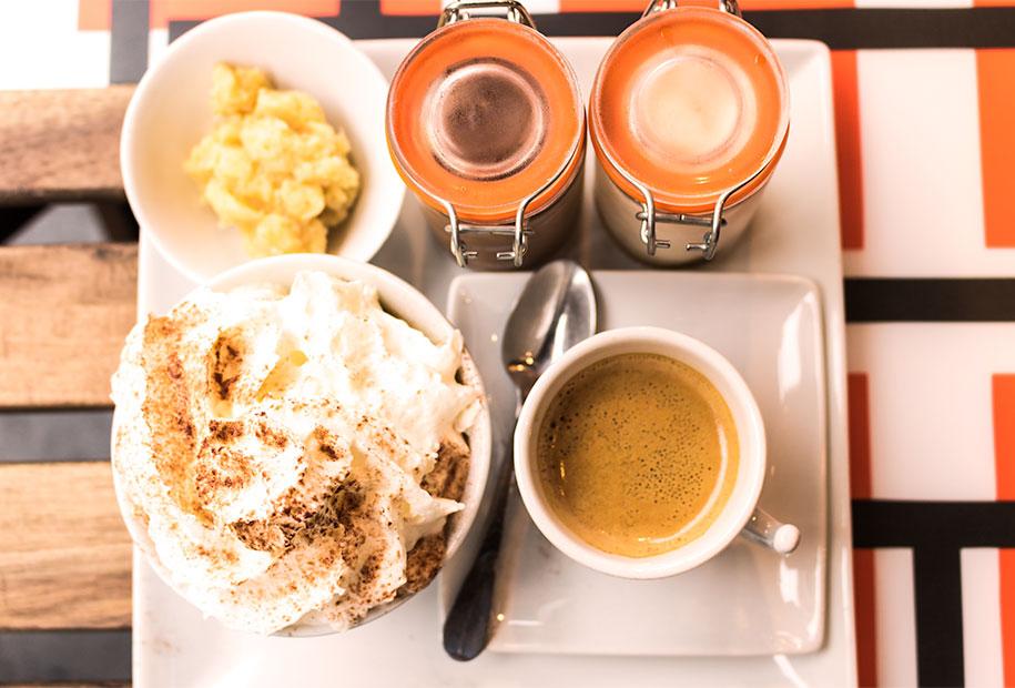 Le café gourmand en pour un dessert tout aussi gourmand au Frenchy's Burger