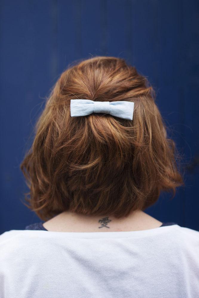 Zoom sur la barrette noeuds à cheveux Des Petits Hauts