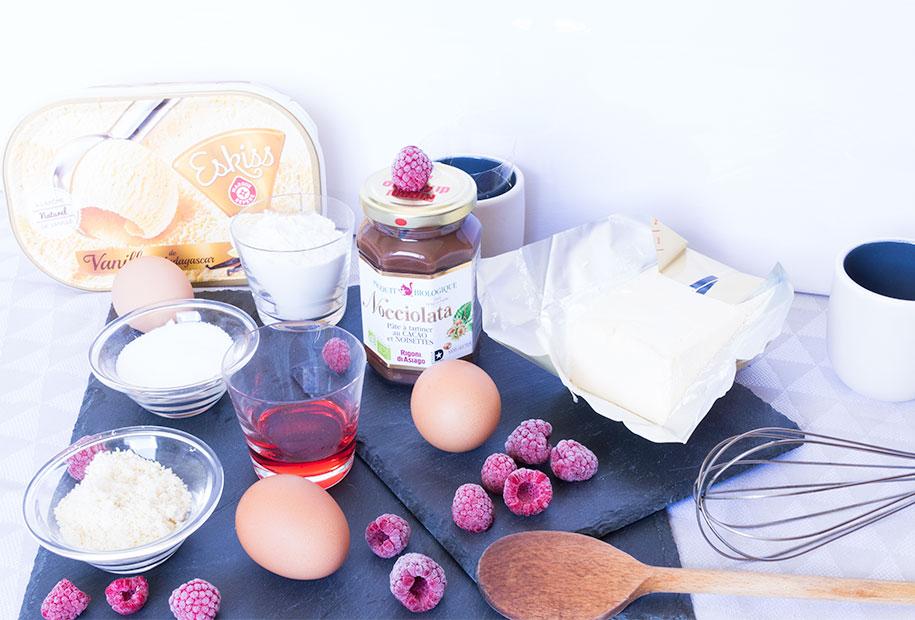 Photo des ingrédients utile à la réalisation du café/thé gourmand