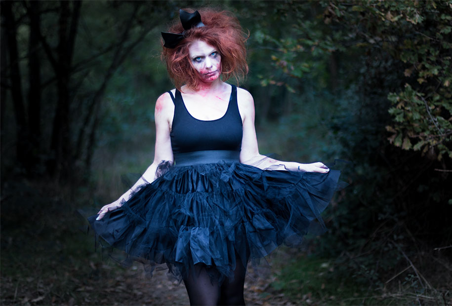 Look de danseuse zombie pour halloween
