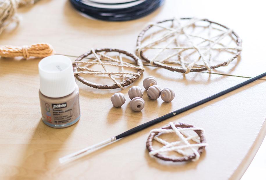 Résultat de la peinture des perles