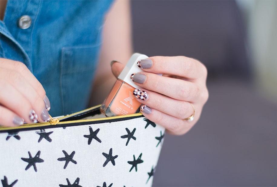 Zoom sur le vernis orange Formula X de Sephora, pour un nailart automnal