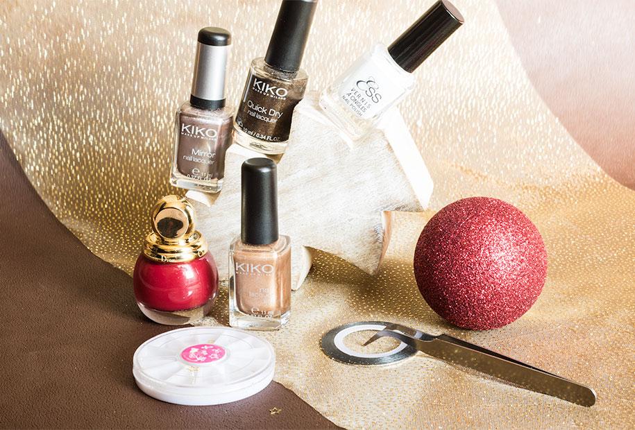 Outils pour le nailart de Noël