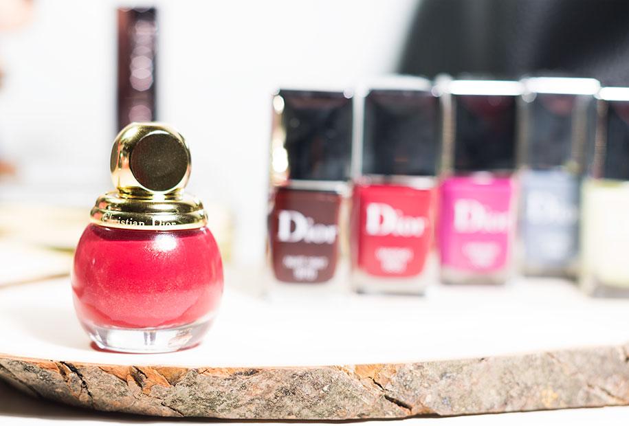 Zoom sur les vernis de la marque Dior et particulièrement le vernis rouge SPLENDOR