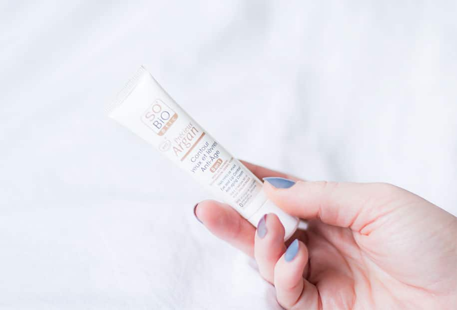 Présentation de la crème contour des yeux et des lèvres de la marque SO' BIO étic