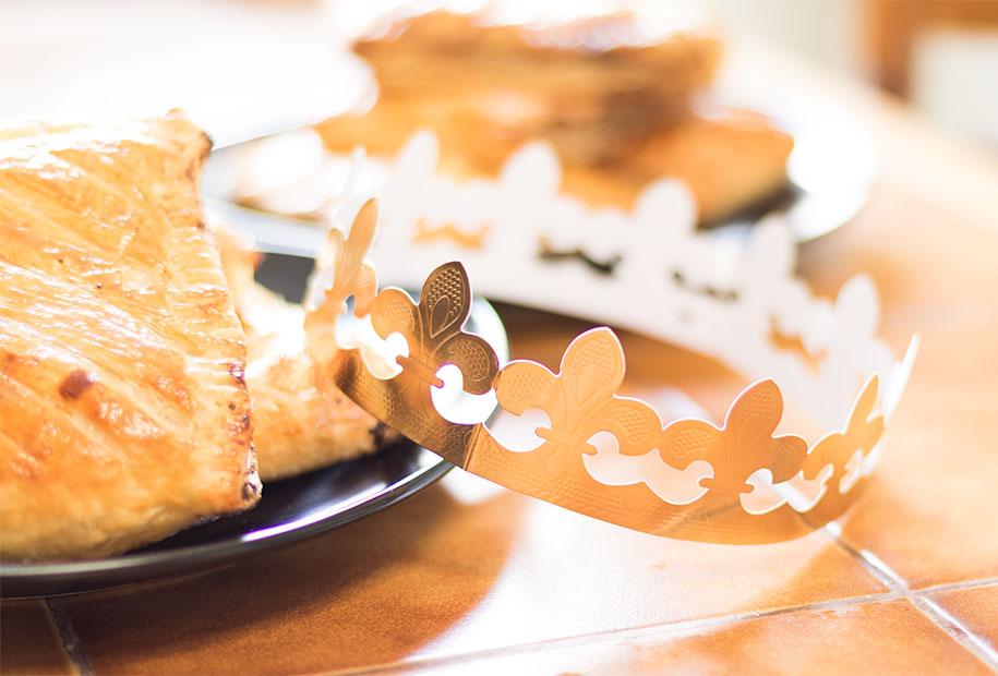 Zoom couronne de la galette des rois