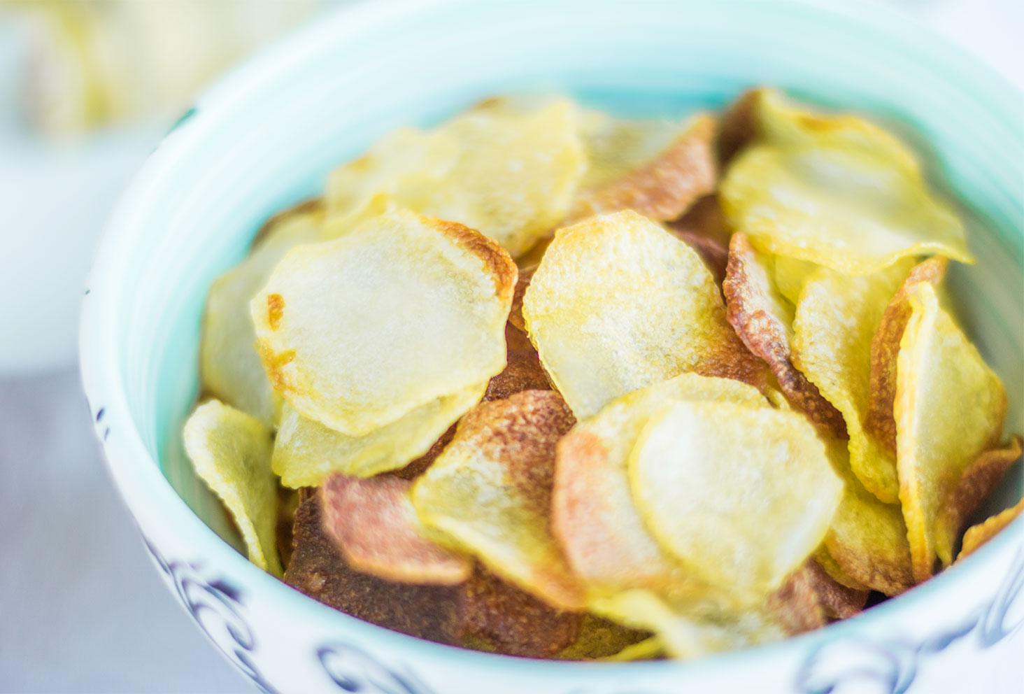 Zoom sur les chips au four faites maison pour les recettes de l'été