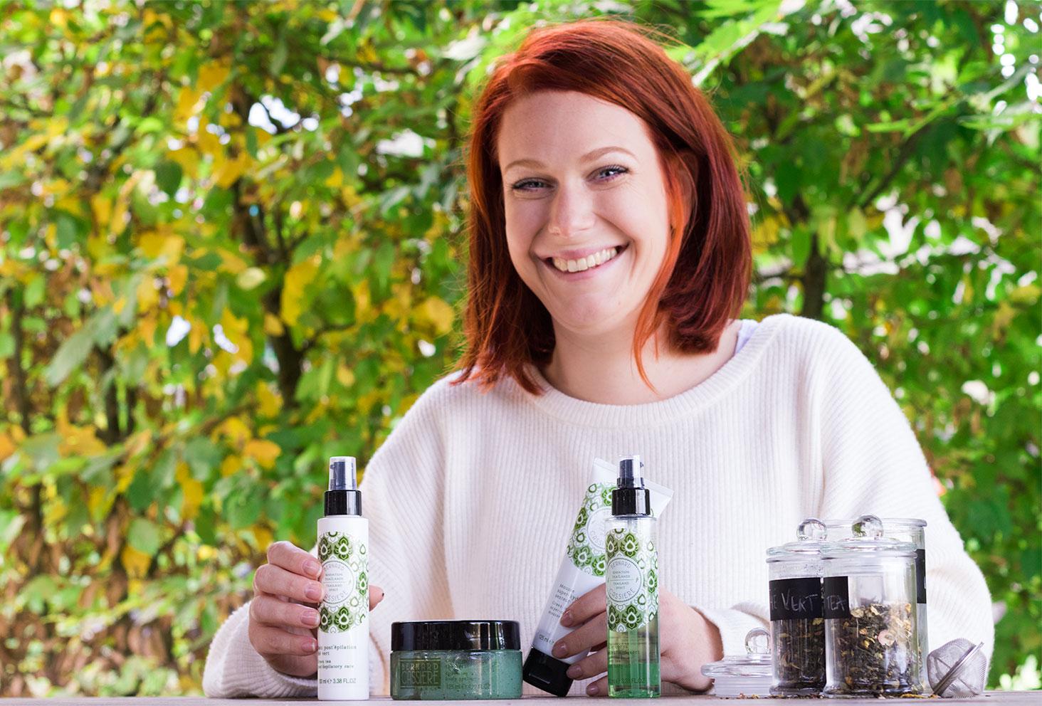 Ensemble des produits de la gamme Sensation Thaïlande au thé vert de la marque Bernard Cassière