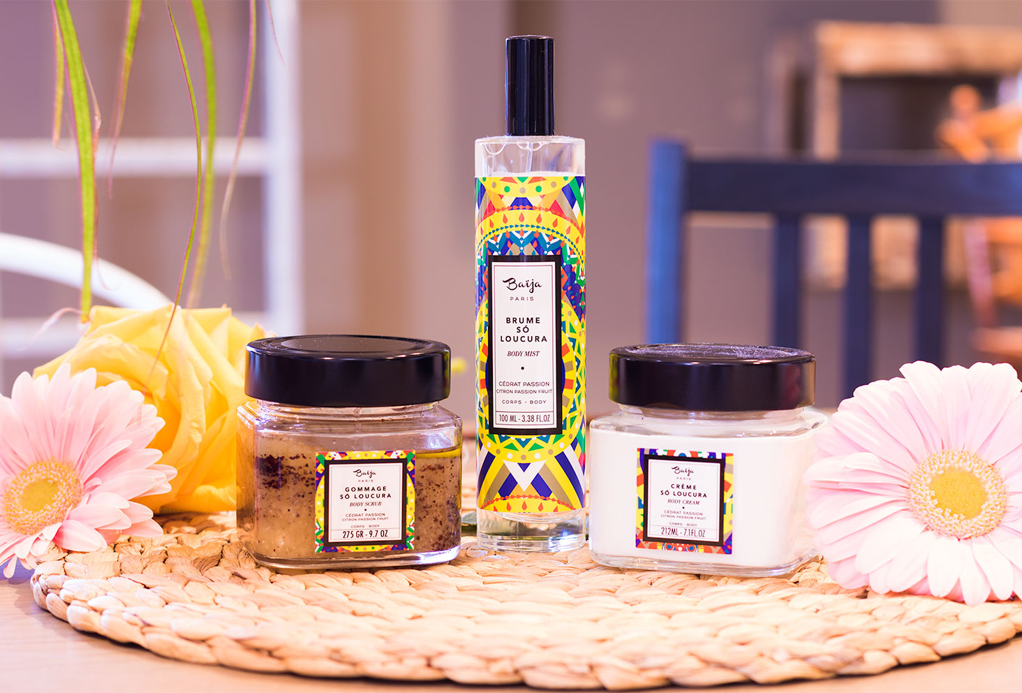Ensemble des produits de la gamme So Loucura de Baïja