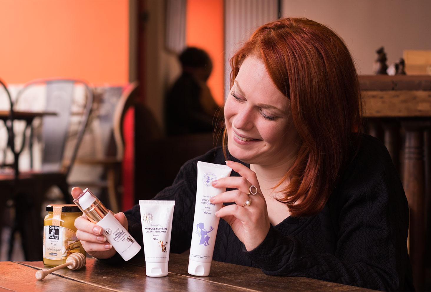 Ensemble des produits visage hydratants de la marque Secrets de Miel