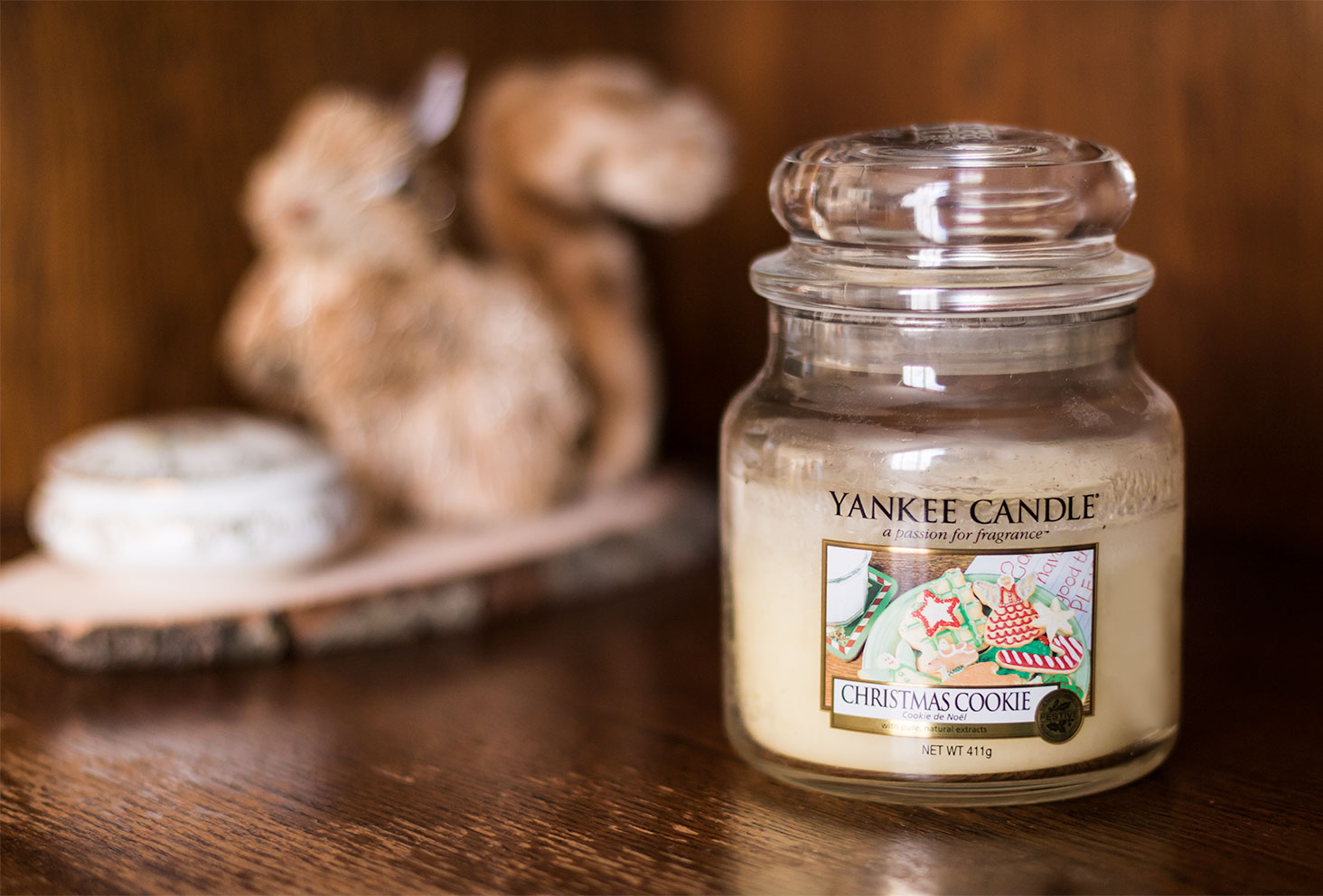Zoom sur la bougie Christmas Cookie de Yankee Candle