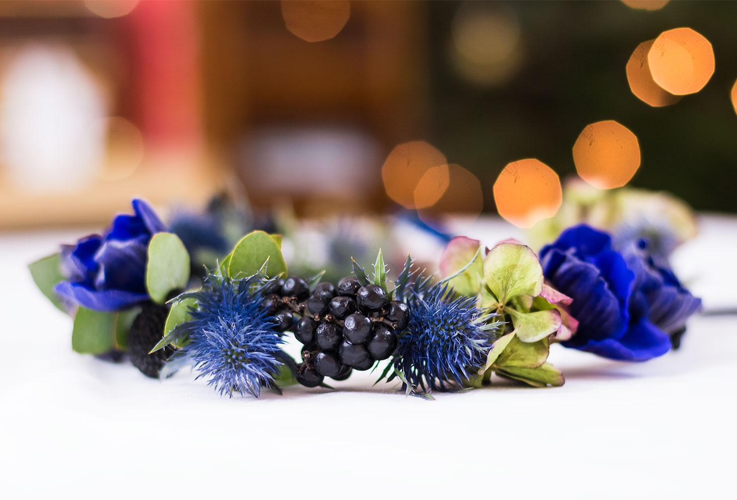 Résultat de la couronne de fleurs Les Herbes Folles terminée
