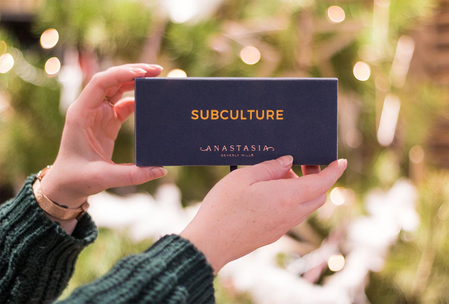 Zoom sur le packaging de la palette Subculture Anastasia Beverly Hills