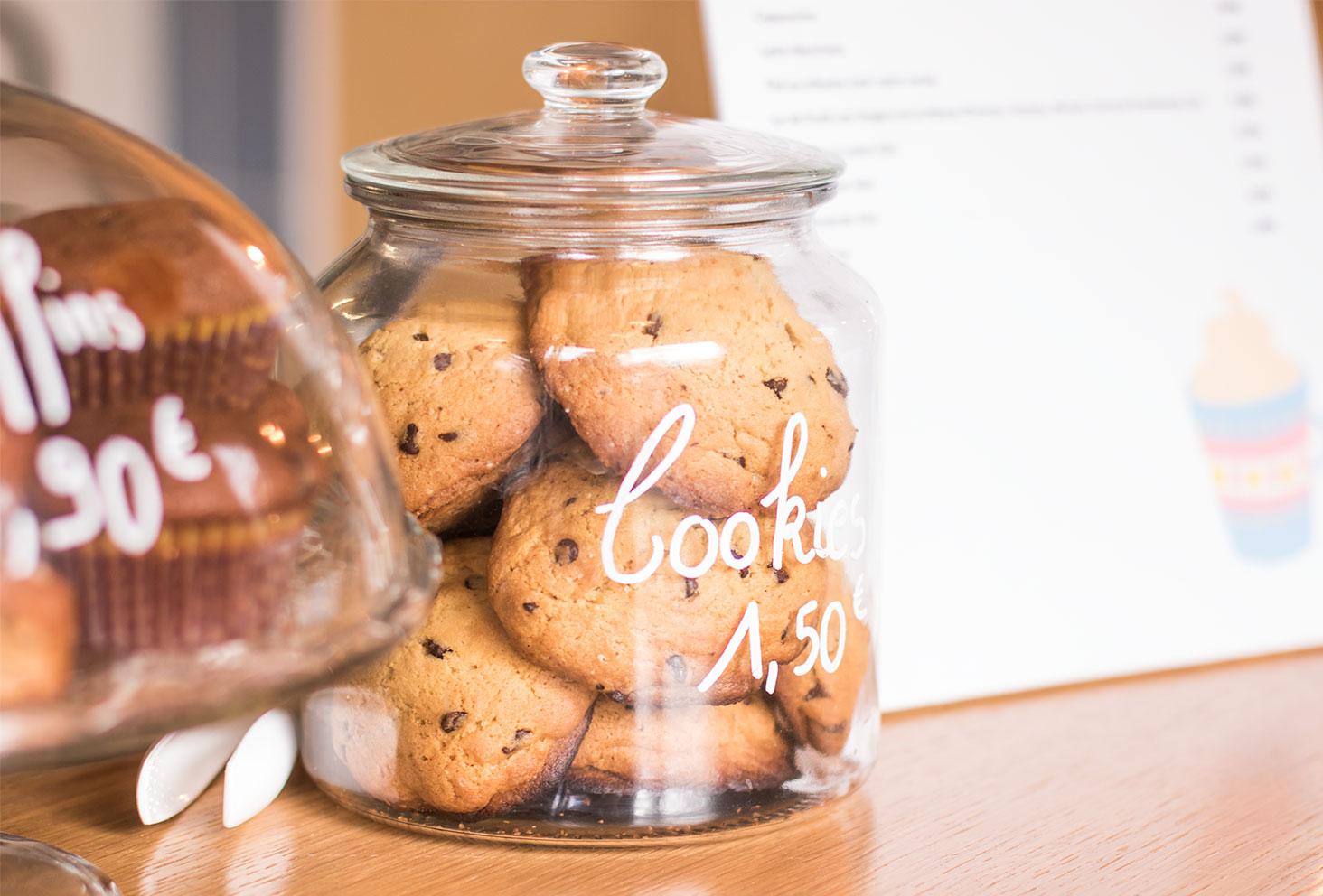 Zoom sur les cookies chez Quand Julie Pâtisse