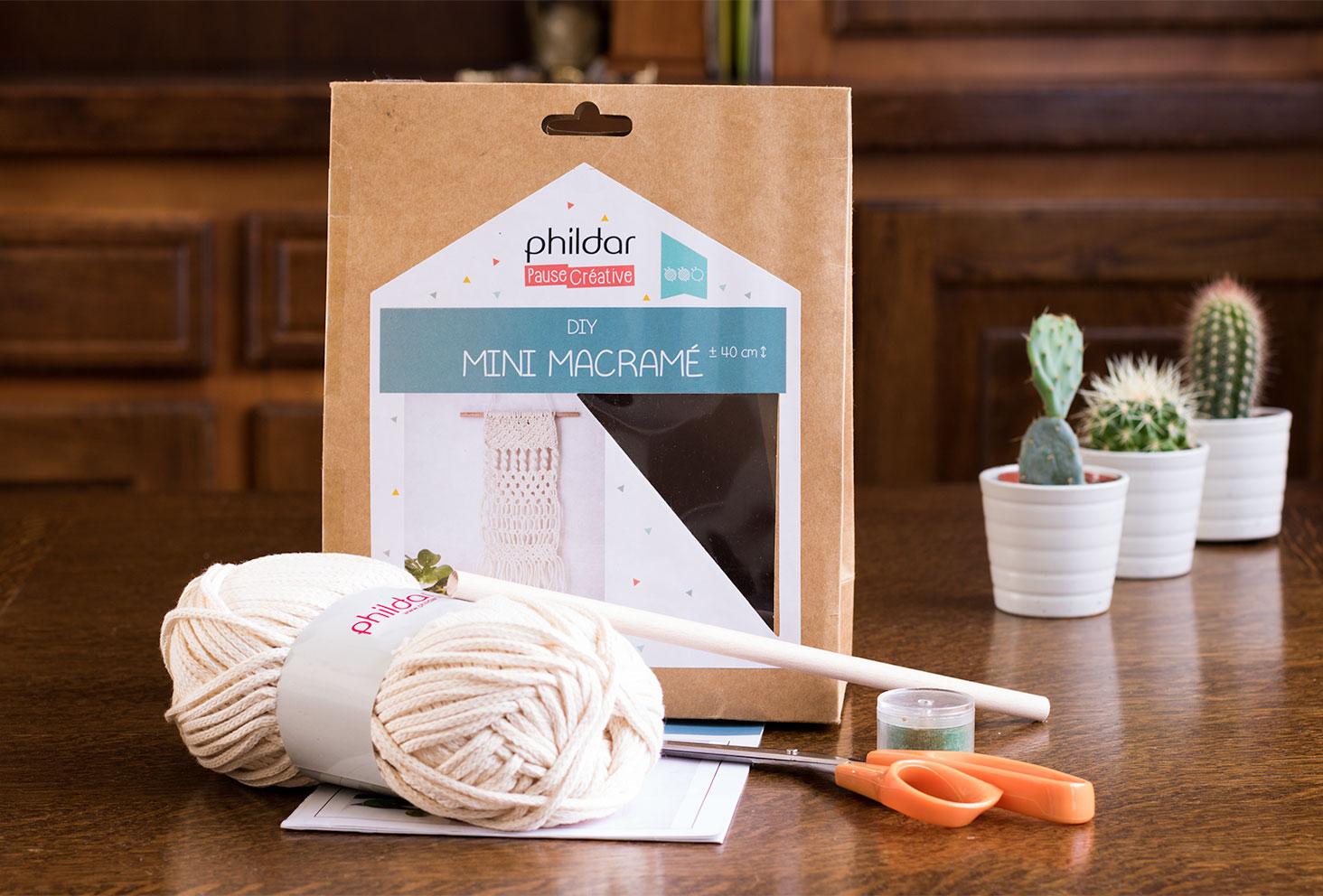 Kit DIY pour mini macramé de la marque Phildar