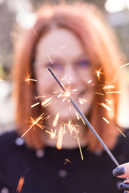 Zoom sur un cierge magique pour la nouvelle année
