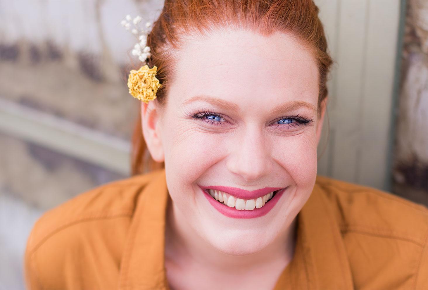 Zoom sur le résultat du maquillage nude réalisé avec mes indispensables make-up