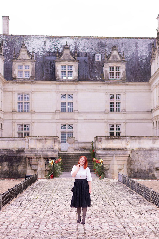 Le château de Villandry pour une tenue de fêtes en noir et blanc