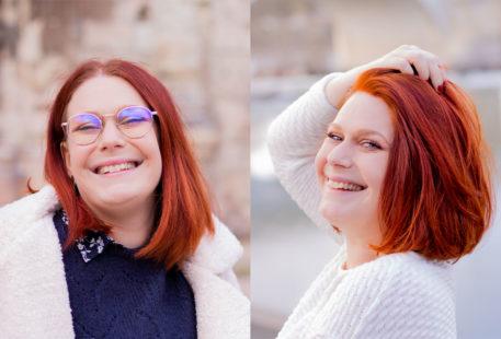 Un avant/après suite à la coloration végétale au henné naturel pour cheveux roux