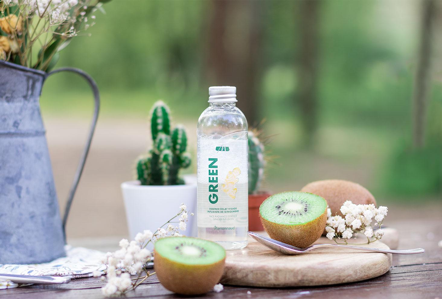 L'essence éclat visage de la gamme Green de Marionnaud pour la routine visage idéale de l'été