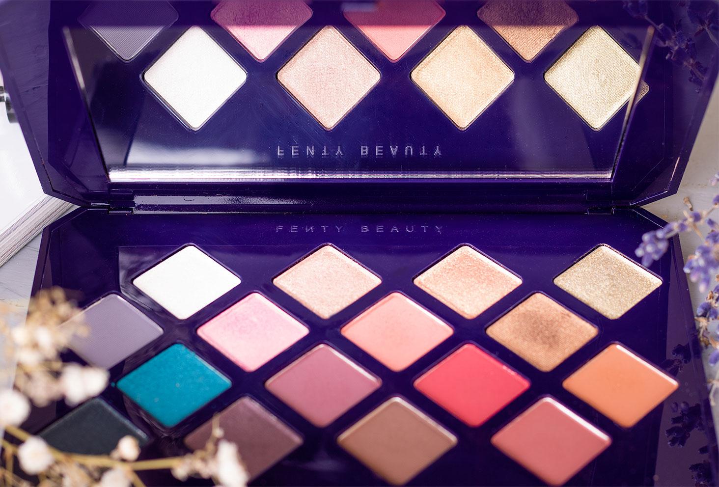 Zoom sur l'ensemble des fards de la palette Moroccan Spice de Fenty Beauty by Rihanna
