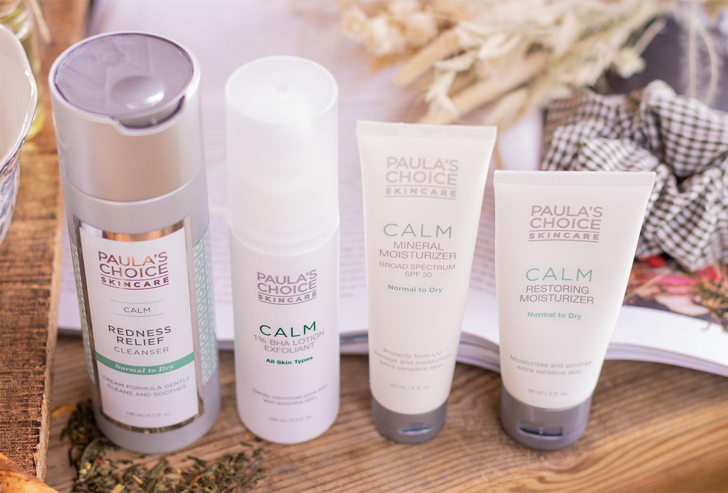 Zoom sur les produits de la gamme CALM de Paula's Choice