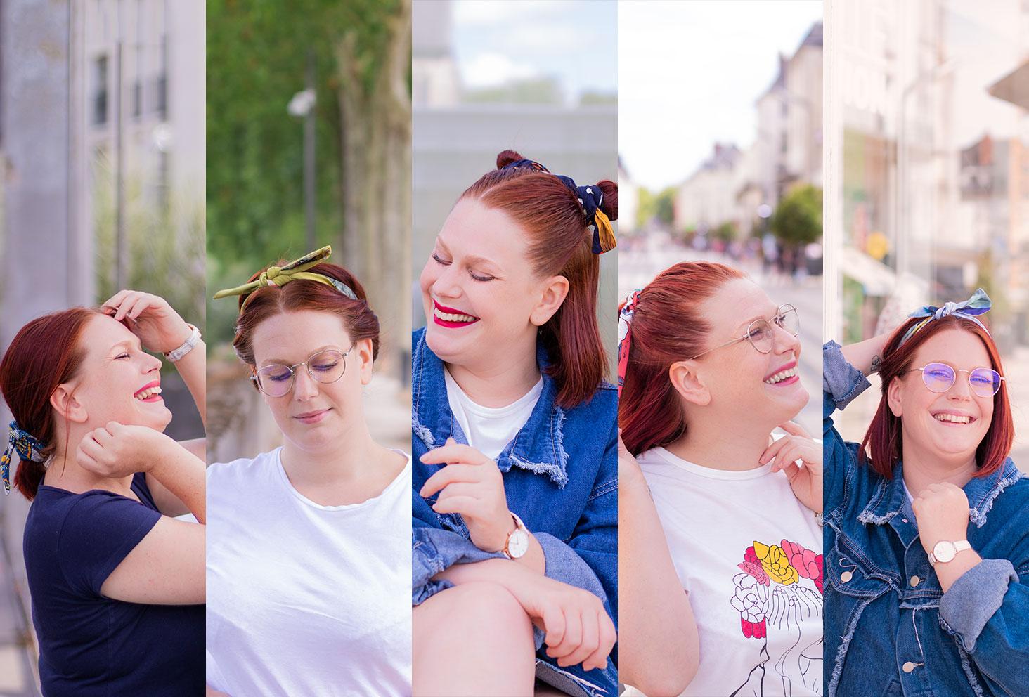 Cinq façons de porter le headband en photos