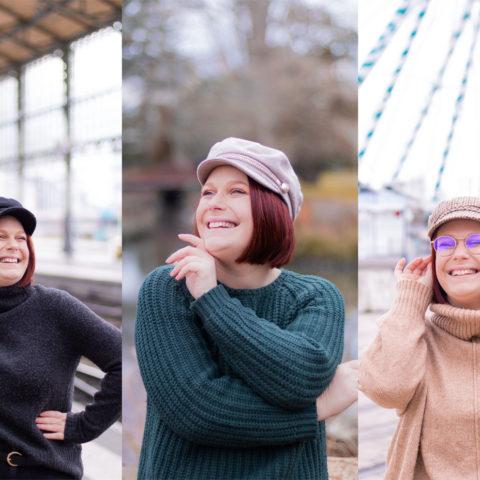 Zoom sur trois casquettes de style marin