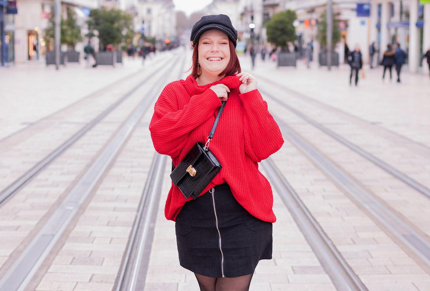 Harcèlement de rue et chien de la casse, dans un article autour d'un look Shein en rouge et noir
