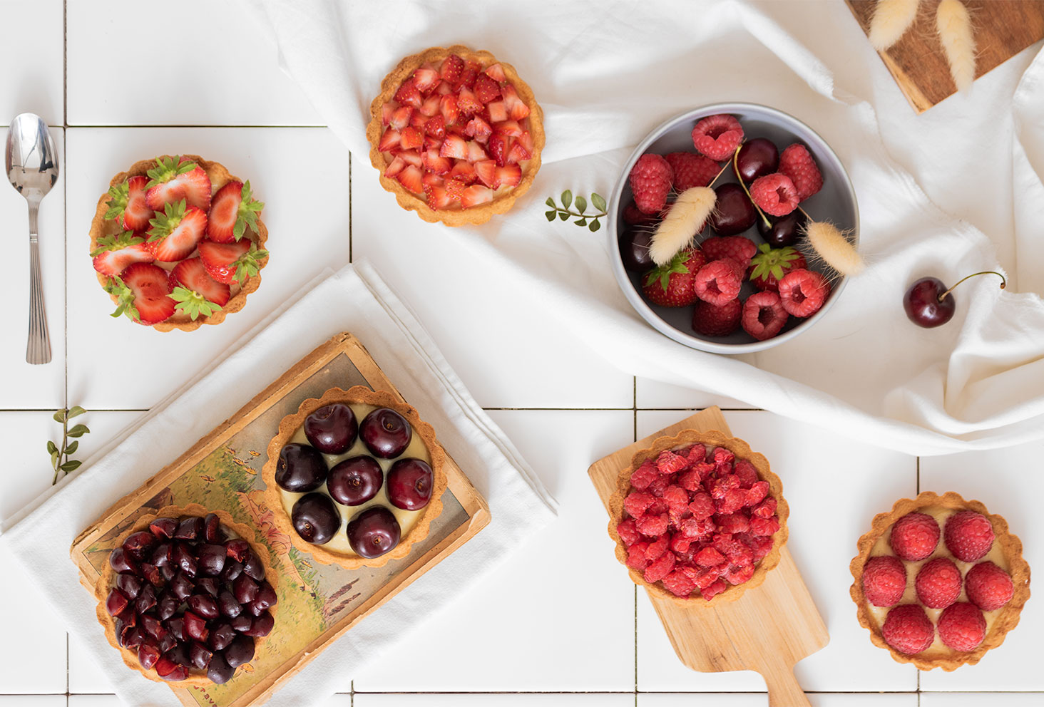Recette facile de tartelettes à la pâte brisée aux fruits rouges