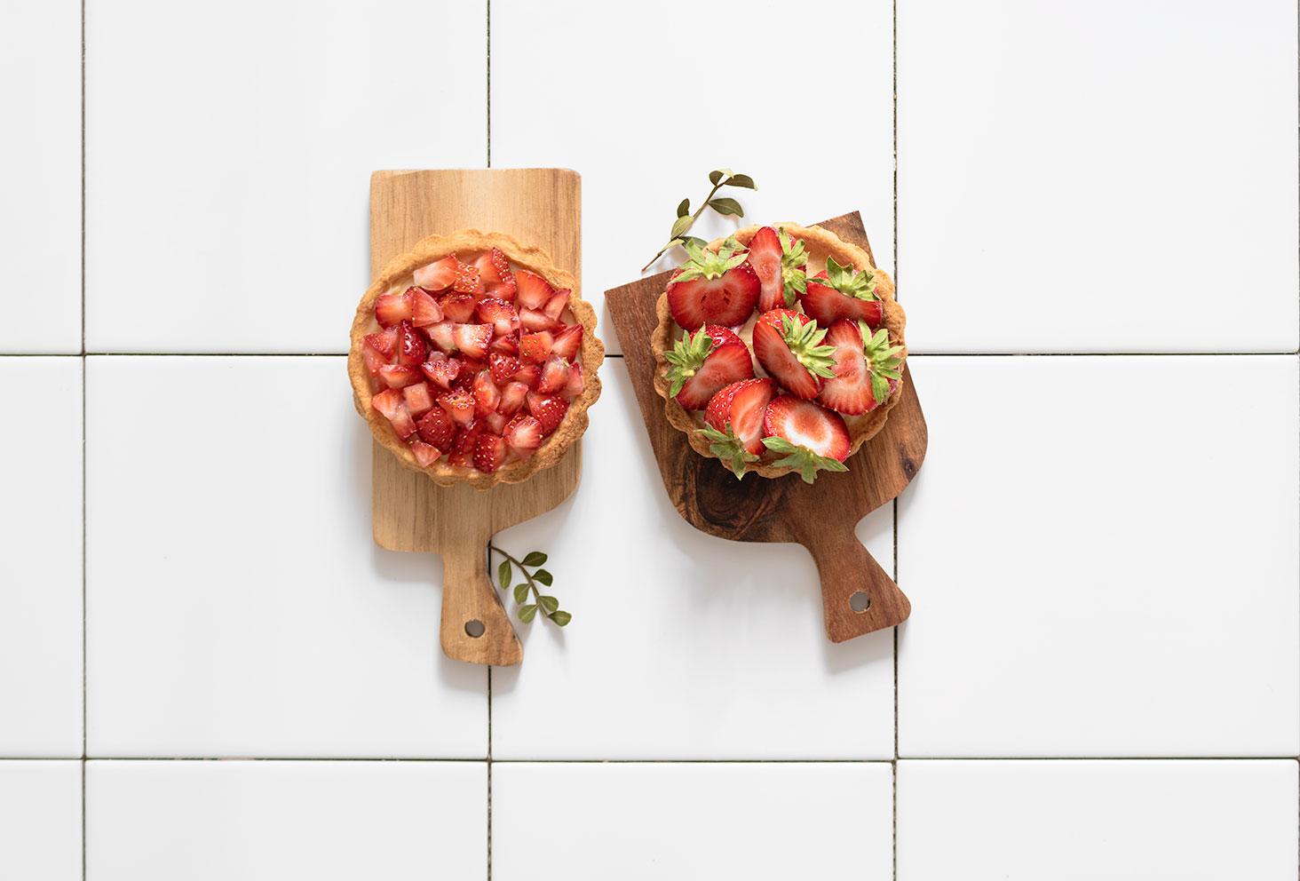 Zoom sur les tartelettes aux fraises