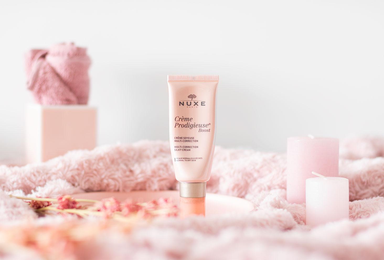 La crème prodigieuse de Nuxe dans la routine beauté parfaite pour les peaux mixtes à grasses