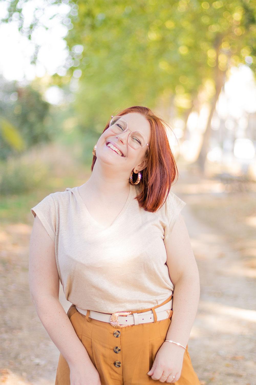 T-shirt en lin beige et sourire, sur les bords de Loire de Montlouis